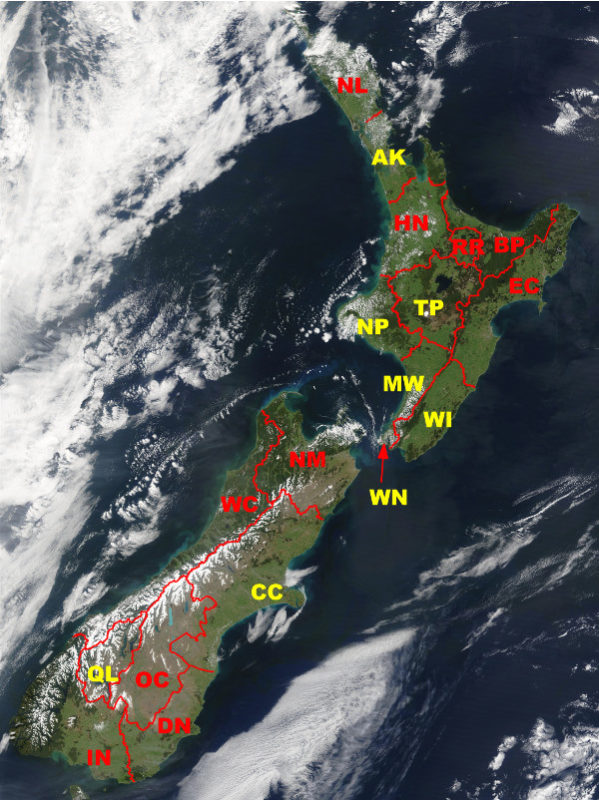 Climate regions in New Zealand – all now available and certified.