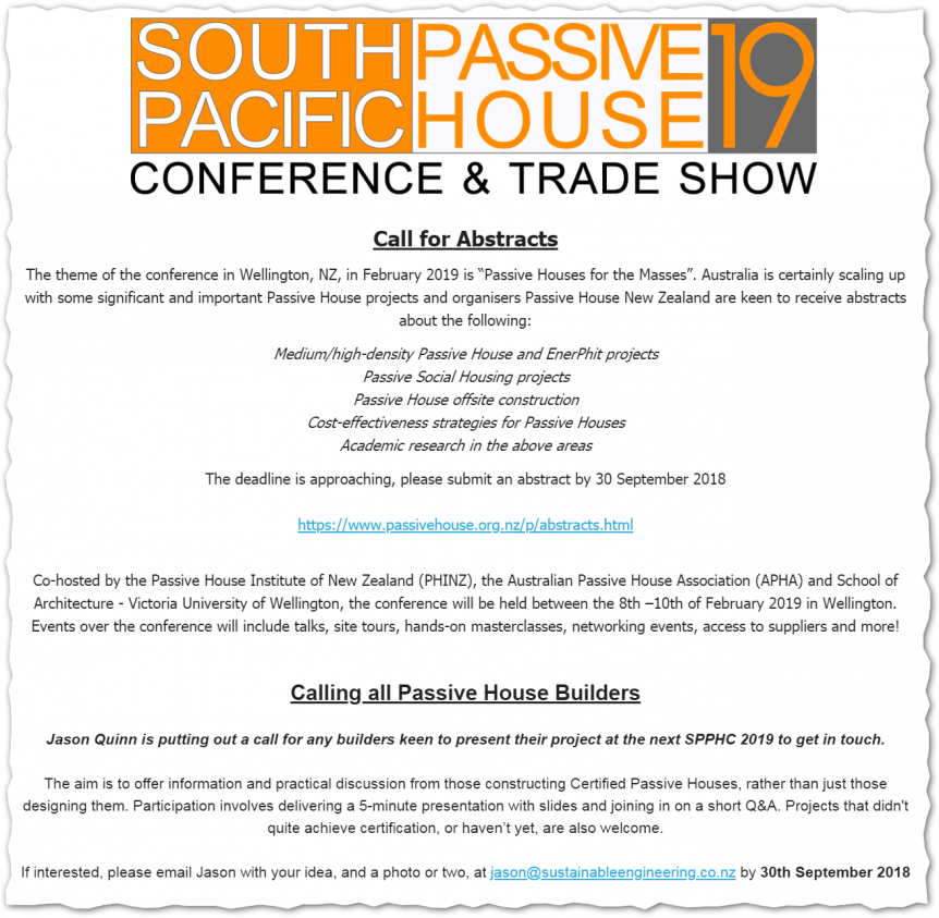 Calling All Passive House Builders Sustainable Engineering Ltd