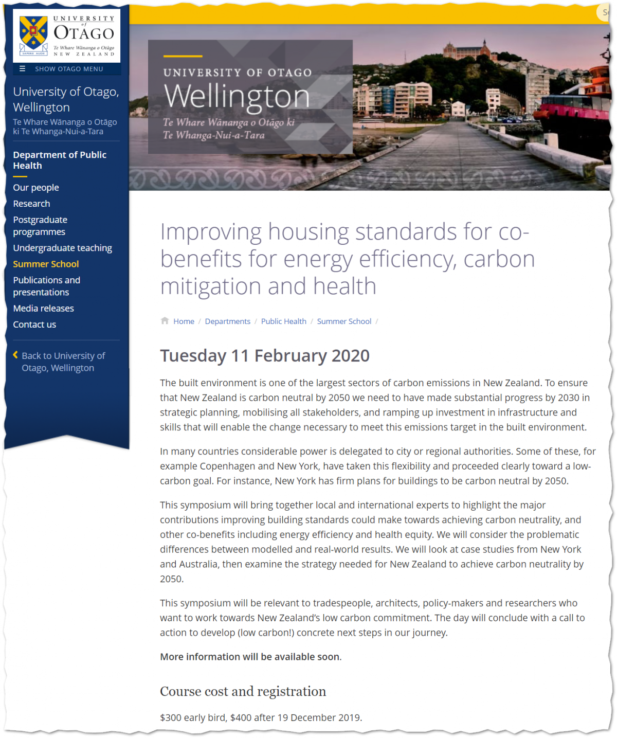 20191104_UniversityOfOtagoWellington_ImprovingHousingStandardsForCoBenefitsForEnergyEfficiencyCarbonMitigationAndHealth